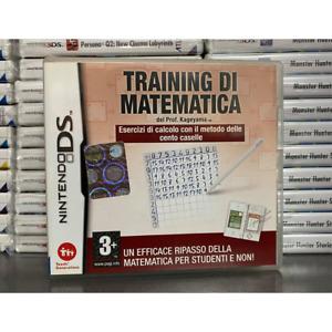 TRAINING DI MATEMATICA NINTENDO DS COMPATIBILE 3DS 2DS USATO FUNZIONANTE ESERCIZ
