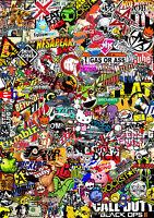 3 x BIG@ Sticker Bombing Bomb  Euro Drift Vinyl Decal  vw  st vauxhall honda Dub