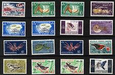 NEW HEBRIDES (FR) 1963 DEFINITIVES SG F110/125 MNH