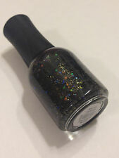 NEW ORLY NAIL POLISH IN ANDROGYNIE BLACK IRIDESCENT GOLD GLITTER  FULL SIZE 18ML