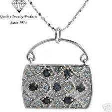Handbag Necklace w/2.01ctw Genuine Sapphires & Topazes