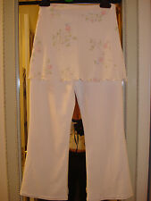 GIRL'S WHITE BOOTLEG TROUSERS WITH DECORATED OVERSKIRT AGE 8