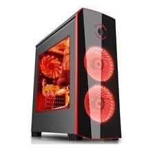 CASE PC GAMING ATX CABINET USB 3.0 HD-AUDIO CON 2 VENTOLE LED DA 12Cm Slot SSD
