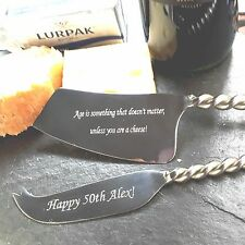 Cheese Knife Gift Set Personalised Stainless Steel Twisted Handles -20% Discount