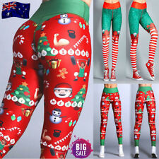 Women Christmas Leggings Fitness Sports Gym Exercise Running Jogging Yoga Pants