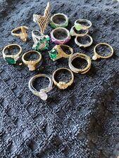 Lot Of 15 Rings - Variety - Fashion Rings - Handmade - Custom Designs- All Sizes