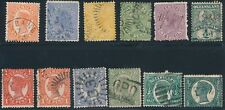 Queensland *12 Early Issues (1882-1907)* Used; As Shown Front & Back; Cv $55+