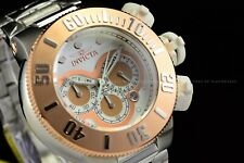 Invicta Men 52mm Specialty Subaqua Noma Chrono White Rose Gold Plated SS Watch