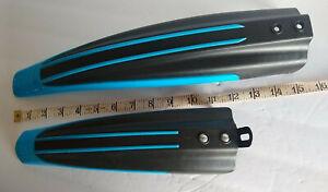 Bicycle Fenders Mud Guards Front & Rear Set Blue & Black Bike Plastic