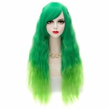 Lolita Heat Resistant Wavy Ombre Long Fluffy Cosplay Fashion Women 70CM Green