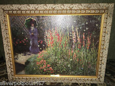 Denunzio framed reproduction oil painting Monet Gladioli 31 1/4 x 24 1/4