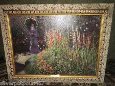 Denunzio framed reproduction oil painting Monet Gladioli 31 1/4 x 24 1/4