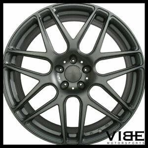 """20"""" ACE MESH-7 GREY CONCAVE WHEELS RIMS FITS FORD MUSTANG SHELBY GT GT500"""