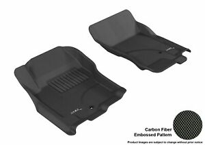 For 2005-2015 Nissan Xterra Kagu Carbon Pattern Black All Weather Floor Mat