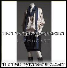 Stella McCartney H&M Black Silk Tulip Skirt Knee Zipped Pocket Front UK 8 36 4