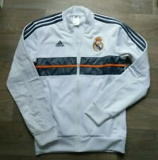 Adidas Real Madrid Tracksuit Football Top - White XS vintage extra small