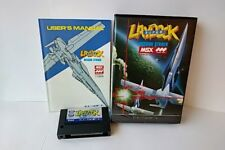 Super Laydock Mission Striker MSX MSX2 Game cartridge,Manual,Boxed set -a83-