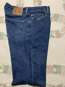 Men's Levi's 505™ Regular Classic Fit Denim Jeans 33 x 36 ( Measure 34 X 36)