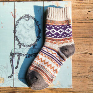 5 Pairs Women Wool Socks Lot Cashmere Thick Winter Socks Warm Soft Casual Sock