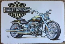 HARLEY DAVIDSON Garage Rustic Vintage Metal Tin Signs Man Cave, Shed & Bar Sign