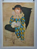 """Pablo Picasso """"Paul as Harlequin"""" 1961 Art Print Poster 22 x 29"""