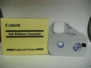 CANON INK RIBBON CASSETTE FOR CABLE ID PRINTER 5 pieces