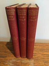 Phineas Finn by Anthony Trollope (3 vols, 1893 Dodd, Mead)