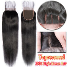 4x4 Closure Virgin 100% Human Hair Extensions Body Deep Curly Wave Straight A151
