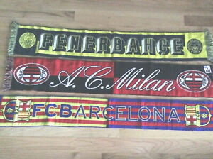 NEW Collectable Ruffneck Scarves International (Soccer) Italy Turkey Spain