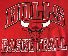 True Vintage 90s Chicago Bulls NBA Basketball Graphic Red Sweater Sweatshirt XXL