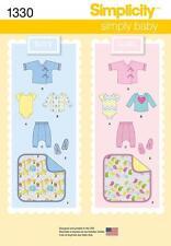 SIMPLICITY SEWING PATTERN BABIES PANTS JACKET BOOTIES BLANKET TOP XXS - L  1330