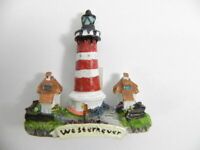 Imán Leuchtturm Blip ,Recuerdo Germany, 6CM Poly, Nuevo