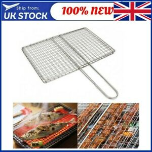 BBQ Grill Grate Grid Wire Mesh Rack Replacement Barbecue Net Stainless Steel UK