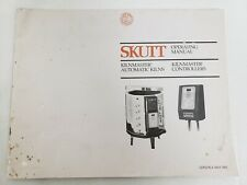 SKUTT OPERATING MANUAL FOR KILNMASTER AUTOMATIC KILNS & CONTROLLERS.  RARE !!