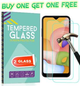 For Samsung Galaxy A10 A20E A50 A70 A71 Tempered Glass Screen Protector & Case