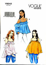 VOGUE SEWING PATTERN 9242 MISSES SZ 12-20 EASY OFF-THE-SHOULDER TOPS W/ STRAPS