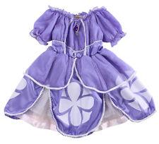 Brillante Bebé Niña Infantil Lila Sofia Disfraz Fiesta Princesa disfraz 2-7 años