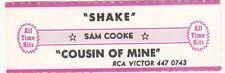 Juke Box Strip SAM COOKE - SHAKE / COUSIN OF MINE