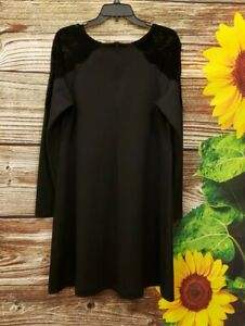 Pietro Brunelli Maternity Long Sleeve Black Dress Size Large NWT