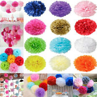 5Pcs 6''8''10''12'' Tissue Paper Pom Poms Baby Shower Wedding Party Home Decor