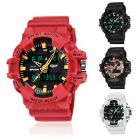 SANDA Men's Digital LED Alarm Week Analog Shock&Waterproof Sports Quartz Watch