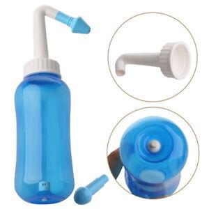 Sinus Allergie Relief Nasal Pressure Rinse Neti pot Nose Wash Cleanser Bottle UK