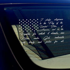 American Flag Pledge of Allegiance Vinyl Truck Car Window Sticker Decal