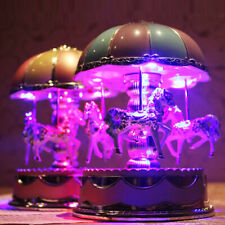 NEW Music Box with Flash Light Carousel Music Box Festival Birthday Gifts Toy