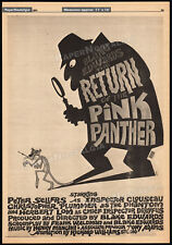 RETURN OF THE PINK PANTHER__Original 1974 Trade AD promo / poster__PETER SELLERS