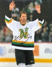 Mike Modano signed 11x14 Photo JSA Hockey Dallas Stars HOF B187
