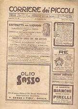 CORRIERE DEI PICCOLI 12 NOVEMBRE 1911 anno III NUMERO 46 CON SOVRACOPERTINA