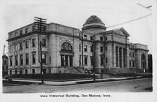 RPPC, Des Moines IA Iowa  HISTORICAL BUILDING & Street View  1908 Photo Postcard