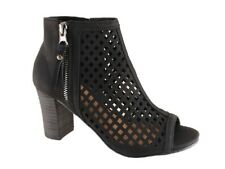 New Step on Air Siesta Black Block Heel Ankle Bootie Size 5