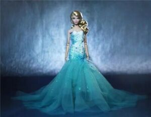 OOAK clear mermaid gown for Fashion Royalty Integrity Toys Silkstone Barbie doll